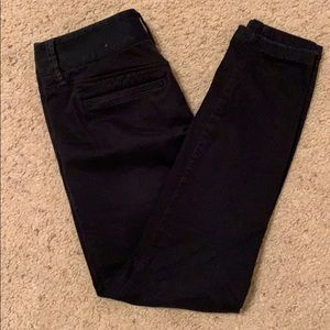 Loft black chino pants size 6